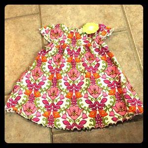 New Vera Bradley baby cotton dress 3-6 months